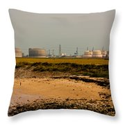 Kingsnorth Power Station Throw Pillow