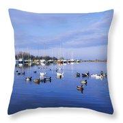Kinnego Marina, Lough Neagh, Co Antrim Throw Pillow