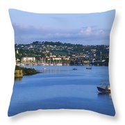 Kinsale, Co Cork, Ireland Boat With Throw Pillow