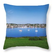 Kinsale, Co Cork, Ireland Boats And Throw Pillow