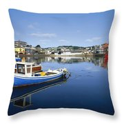 Kinsale, Co Cork, Ireland Boats In The Throw Pillow