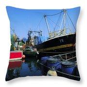 Kinsale, Co Cork, Ireland Fishing Boats Throw Pillow
