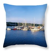 Kinsale, Co Cork, Ireland Moored Boats Throw Pillow
