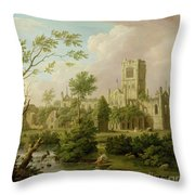 Kirkstall Abbey - Yorkshire Throw Pillow