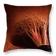 Kirlian Photograph Throw Pillow