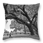 1860 Kissimee Cow Camp  4  Bw Throw Pillow