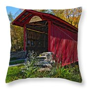 Kissing Bridge 2 Painted Throw Pillow