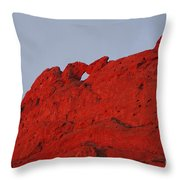 Kissing Camels On Fire Throw Pillow