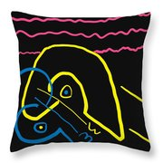 Kissing On The Beach Throw Pillow