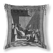 Kissing The Popes Feet Throw Pillow