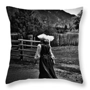 Kitchen Curtsy  Throw Pillow