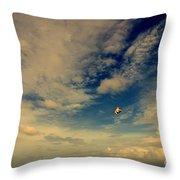 Kite At Folly Beach Near Charleston Sc Throw Pillow