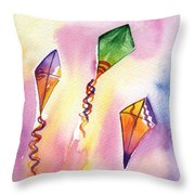 Kite Rockets Throw Pillow by Lydia Irving