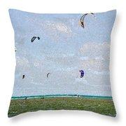 Kites Over The Bay Throw Pillow