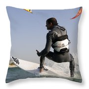 Kitesurfing Board Throw Pillow
