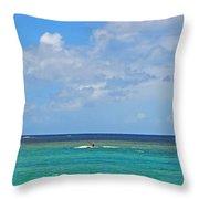 Kitesurfing In Kauai II Throw Pillow
