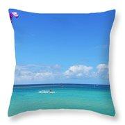 Kitesurfing In Kauai Throw Pillow