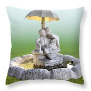 Kitsch Kiss Throw Pillow