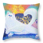 Kitties For Jenny Throw Pillow