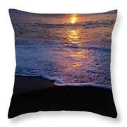 Kitty Hawk Beach At Sunset Throw Pillow