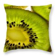 Kiwi Fruit Macro 5 Throw Pillow