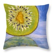 Kiwi Reflection Throw Pillow