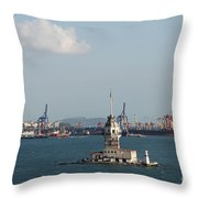 Kiz Kulesi - Leander Tower Istanbul Throw Pillow