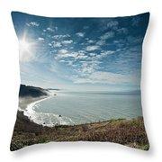 Klamath Overlook With Sun Throw Pillow