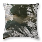 Klyuchevskaya Volcano Throw Pillow