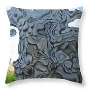 Knarly Tree Abstract Throw Pillow
