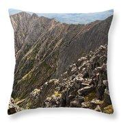 Knife Edge Mount Katahdin Baxter State Park Throw Pillow