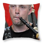 Knight Of The Pipes Throw Pillow