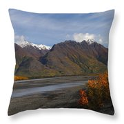 Knik River Throw Pillow