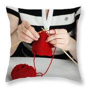 Knitting Throw Pillow
