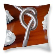 Knot On Pen Throw Pillow