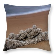 Knots On The Sand Throw Pillow