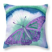 Knowingness Butterfly Throw Pillow