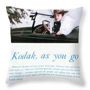Kodak Advertisement, 1917 Throw Pillow