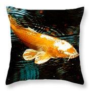 Koi In Pond Throw Pillow