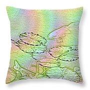 Koi Rainbow Throw Pillow