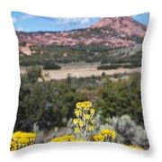 Kolob Terrace Red Buttes Throw Pillow