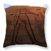 Kom Ombu Temple Heiroglyphics Throw Pillow