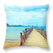 Komodo Panorama Throw Pillow