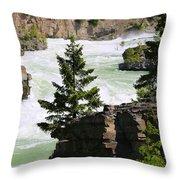 Kootenai Falls In Montana Throw Pillow