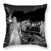 Korean War Memorial Throw Pillow
