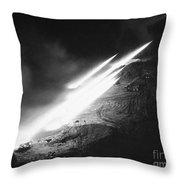 Korean War: Rocket Launch Throw Pillow