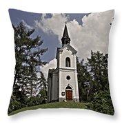 Kostel Panny Marie Lourdske Throw Pillow