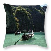 Krabi Island Thailand Throw Pillow