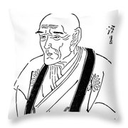 Kyokutei Bakin (1767-1848) Throw Pillow