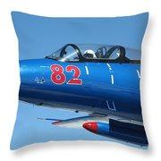 L-29 Delfin Standard Jet Trainer Throw Pillow